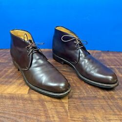Paluso Napoli Barneys Italy Brown Leather Lace Up Ankle Boots Men's size 42.5  $35.99