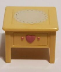 FISHER PRICE LOVING FAMILY DOLLHOUSE SMALL BEDROOM SIDE COFFEE END TABLE $7.99