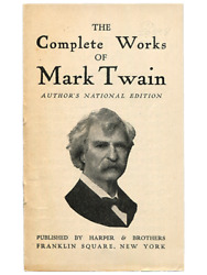 [Mark Twain]. The Complete Works of Mark Twain. Circa 1910. Promotional leaflet.