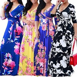 Women#x27;s Boho Floral Strappy Dresses Ladies Summer Holiday Beach Dress Plus Size $17.99