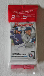 2020 Bowman Baseball Unopened Value Pack With Free Shipping