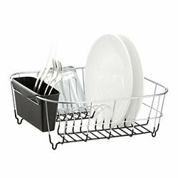 Dish Drying Rack Sink Drainer Kitchen Holder Stainless Steel Small Rustproof New $22.19