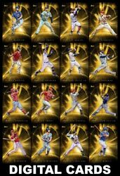 Topps BUNT UNIVERSE 2020 Series 2 [16 CARD GOLD BASE SET] TroutYelich+++