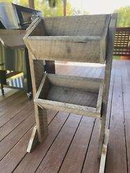 Rustic Decor Kitchen Shelf Vegetable Potato Bin $45.00
