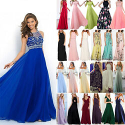 Women Formal Wedding Bridesmaid Evening Party Cocktail Ball Prom Gown Maxi Dress $18.99