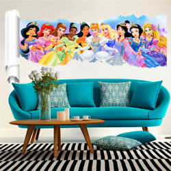 Princess Wall Stickers Decor Cartoon Wall Paper Decals Poster For Kids Rooms NEW $18.95