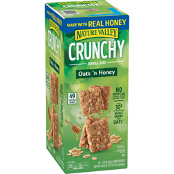 Nature Valley Oats #x27;n Honey Crunchy Granola Bars 49 Pouches 2 Bars per Pouch $12.99