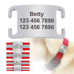 Personalized Pet Dog Slide on ID Tag Stainless Steel Cat Collar Name Tag Engrave $4.99