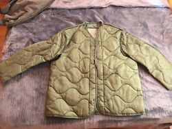 US Army Military M65 Field Jacket Quilted OD Green Coat Liner M-65  XS-M-L-XL $5.00