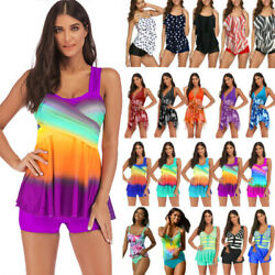 Womens Beach Tankini Swimsuit Swimwear Bikini Bathing Suit Summer Suit Plus Size $17.95