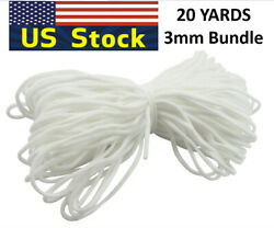 Round Elastic Cord Band String For DIY Make Face Cover Trim Spandex 20 Yard USA $5.99