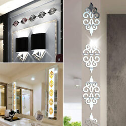 10* Modern 3D Mirror Style Acrylic Wall Sticker Decor Decal Home Background DIY $6.50
