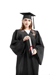 Graduation Cap and Gown 2021 Tassel College or High School Black Matte Unisex