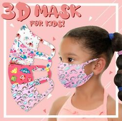 4Pack Girls Face Mask Kids Toddler Reusable Washable Cover Breathable Protection $12.99