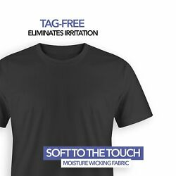 4 Pack T Shirts for Men 100% Cotton Crew Neck Tag Free Shirt S-2XL