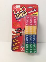 UNO Stacko Travel Size Game  Mattel 1996 New Unopened Package $16.99