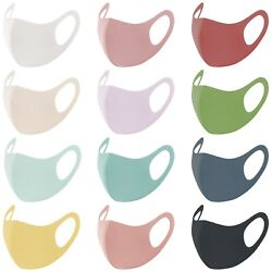 1-5 PACK NEW Fashion 3D Face Mask Lightweight Washable Reusable - Light Colors!  $10.99