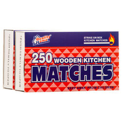500 Pcs WOODEN KITCHEN RED PENNY MATCHES $6.99