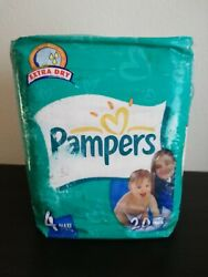 Vintage Pampers Extra Dry 20 diapers size 4 MAXI 7 18 kg 17 40 lbs 2002 NEW $69.90
