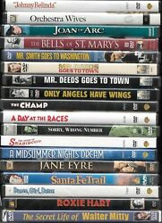 Classic films on DVD from Hollywood's Golden Age combined shipping $3.99
