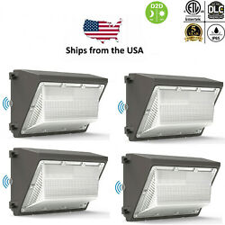 4 PCS 120W 80W LED Wall Pack Light Outdoor Flood Commercial Industrial Security $549.09