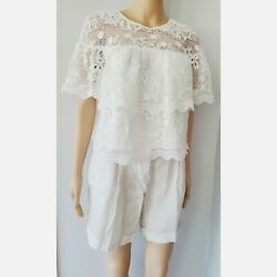 Barneys New York White Tiered Top Large Size  $25.00