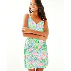 Lilly Pulitzer Adrianna Dress in Floridita Size S Nice LONG length