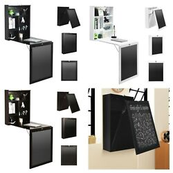 WALL MOUNTED TABLE Convertible Foldable Desk with Chalkboard Multiple Colors $195.39