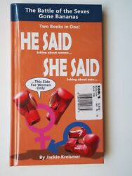 He Said-She Said-Battle Of The Sexes Gone Bananas!-2 Books In One-New