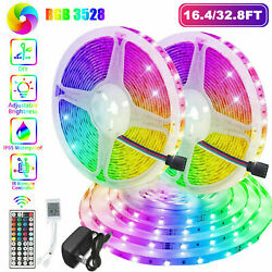 32FT Flexible 3528 RGB LED SMD Strip Light Remote Fairy Lights Room TV Party Bar $22.99