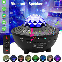 Bluetooth Starry Night Light Projector Ocean Wave Star Lamp Party Decor Gift $29.97