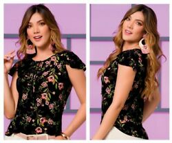 Ropa Colombiana: Ryocco 5918 Blouse Floral Print