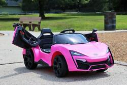 Lykan Hypersport Style Ride On Electric Car Pink 12v Power Motorized Kids Car $179.99