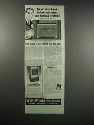 1938 Weil-McLain Radiant Radiators & All-Fuel Boiler Ad $16.99