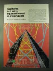 1972 Southern Railway Ad - Unit Trains Squeeze the Cost $16.99