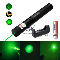532nm 303 Green Laser Pointer Pen Visible Beam Light 18650 Battery Charger USA $12.99