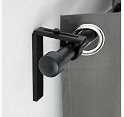 One New IKEA BETYDLIG Wall Ceiling Bracket Black Adjustable Rod Holder $7.99