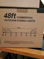 48ft OUTDOOR Waterproof Commercial String Lights