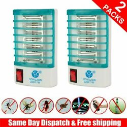 2Packs Indoor LED Electric Mosquito Fly Bug Insect Trap Zapper Killer Lamp light $7.99
