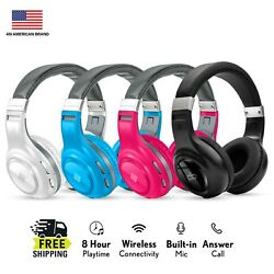 Polaroid Bluetooth Wireless Headphones Dynamic Stereo Headset with Microphone $19.99