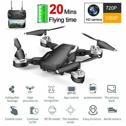 WIFI Drone With 1080P HD Camera Foldable RC Aircraft Quadcopter Selfie FPV GPS $43.42
