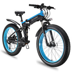 CYRUSHER Folding Electric Bike Mountain E-Bike 27 Speeds 1000W 48V 12.8AH XF690 $1,950.00