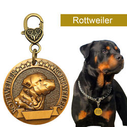 Personalized Dog Tags 3D Gold Custom Engraved Disc Name Phone Address Rottweiler $7.99