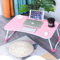 Bed Small Table Laptop Computer Table Bedroom With Desk Lazy Folding Table $29.98