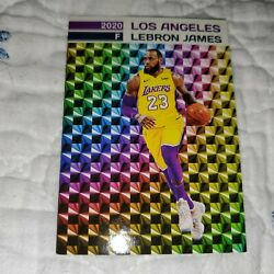 LEBRON JAMES RARE PRIZM BASKETBALL CARD LIMITED EDITION LOS ANGELES LAKERS $$$ $14.99