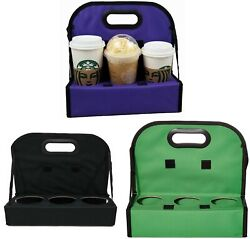 TheBiker, Cup Carrier Reusable Waterproof Folding Insulated, 6 Cups, 3 Colors $23.95