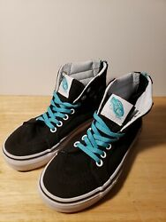 Vans Off The Wall Girl#x27;s Sz 13 Ankle Black Skateboard Shoes Sneakers Cat Eyes $15.99