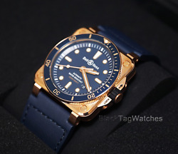 Bell & Ross BR03-92 Diver Blue Bronze BR0392-D-LU-BRSCA Limited Mens Wristwatch $4,000.00