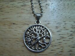 SUN MOON TREE of LIFE Necklace Stainless Chain