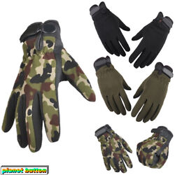 Tactical Full Finger Gloves Men#x27;s Army Military Camouflage Paintball $8.54
